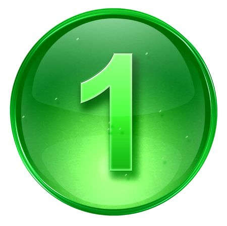 number one icon. With Clipping Path
