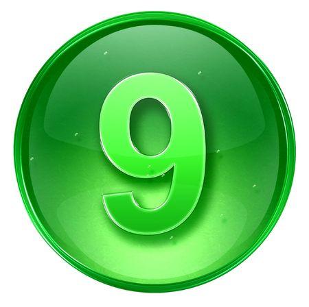 number nine: n�mero Nueve icono. Con la saturaci�n camino