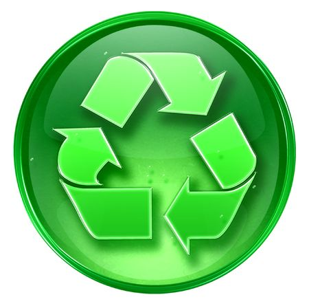 Recycling symbol icon. (With Clipping Path) Stock Photo