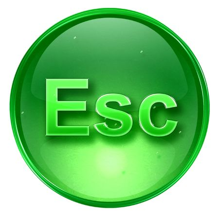 esc: Esc icon. With Clipping Path