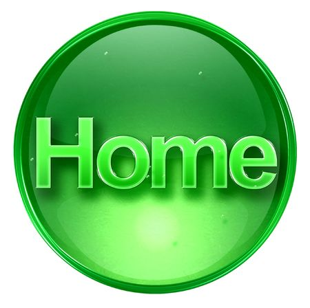 home icon. With Clipping Path Stock Photo