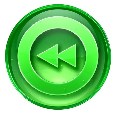 rewind: Rewind icon. (With Clipping Path) Stock Photo