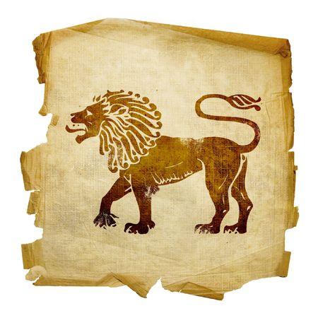 virgo: Lion zodiac icono, aislados en fondo blanco.  Foto de archivo