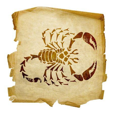 capricornio: Scorpio zodiac icono, aislados en fondo blanco.