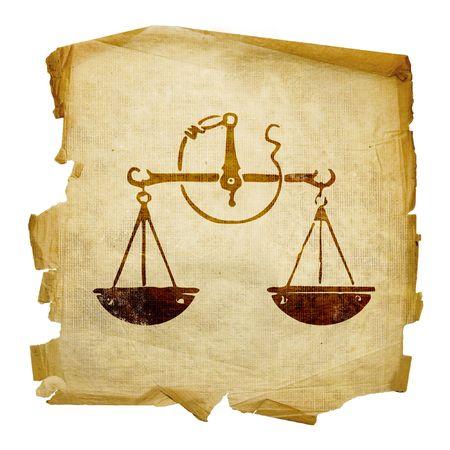 escorpio: Libra zodiac icono, aislados en fondo blanco.