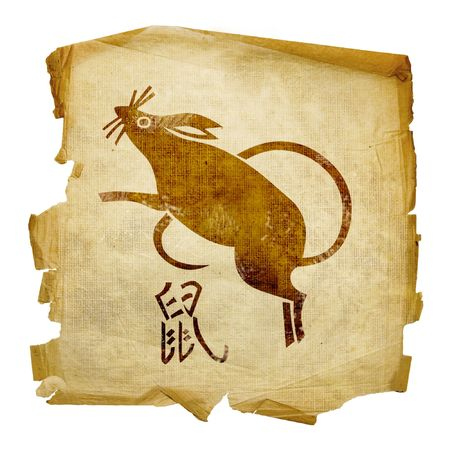 fortunetelling: Rat Zodiac icon, isolated on white background.