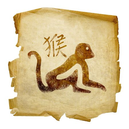 fortunetelling: Monkey Zodiac icon, isolated on white background.