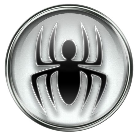virus icon: Virus icon grey, isolated on white background. Stock Photo