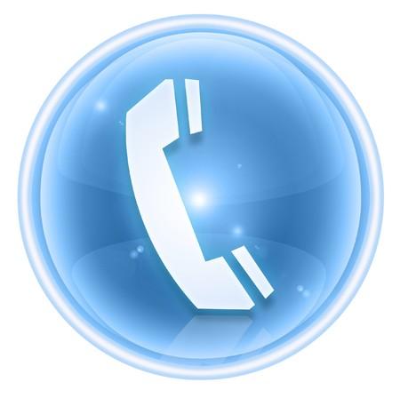cabina telefonica: icono de tel�fono de hielo, aislados sobre fondo blanco.