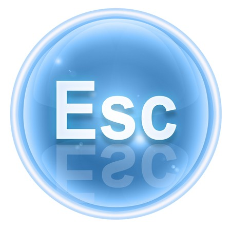 esc: Esc icon ice, isolated on white background
