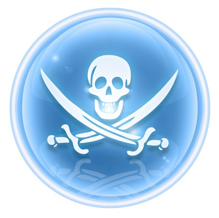 pirates flag design: Pirate icon ice, isolated on white background.