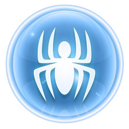 virus icon: Virus icon ice, isolated on white background.
