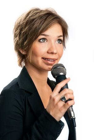 correspondent: TV Correspondent on white background