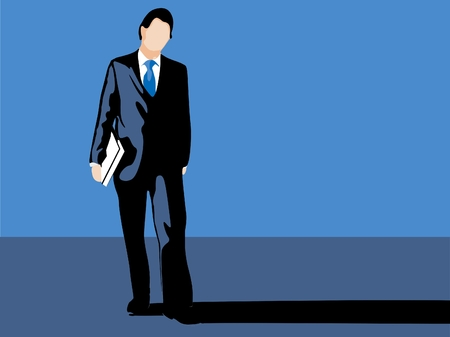 Business man casting a large shadow. Stock Photo - 1404830