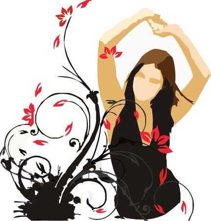 Young woman dancing.