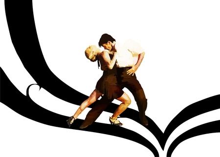 Romantic Latin dance. Vector