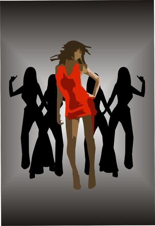 Punk dance club vector. Illustration