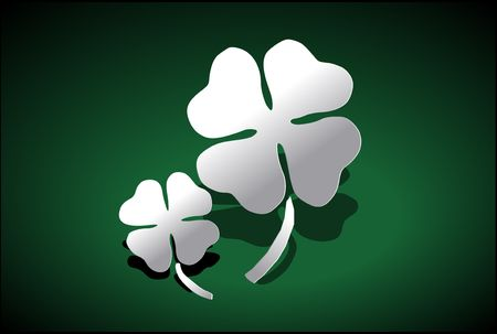 Vector Illustration of a four-leaved clover. illustration