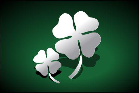 Vector Illustration of a four-leaved clover. Stock Illustration - 2701579