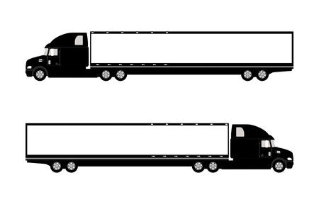 Vector illustration of a truck.
