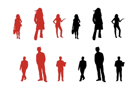 Vector silhouette series of business people. Stock Vector - 4805119