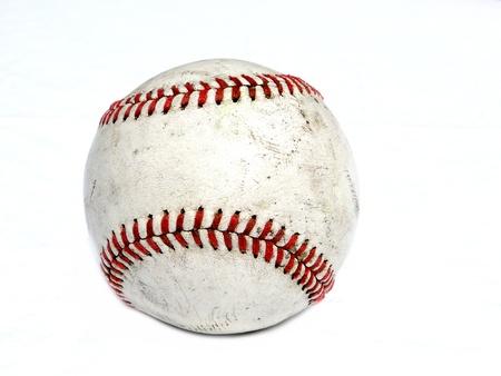 Used hard baseball isolated on white.