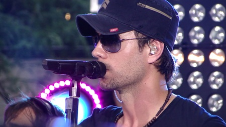 Enrique Iglesias performing at the 2010 Toyota Concert series in NYC at the Rockefeller Plaza.