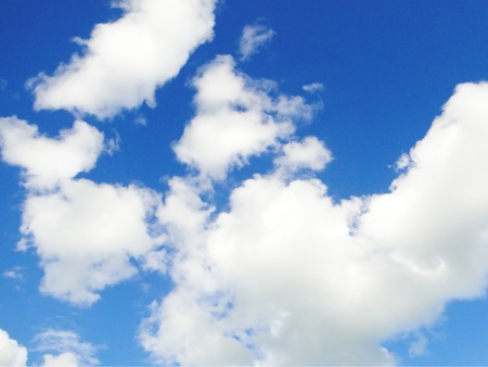 Beautiful blue clouds. Stock Photo