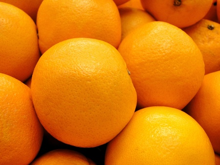 Frame filled with fresh organic oranges. Stock Photo - 10430479