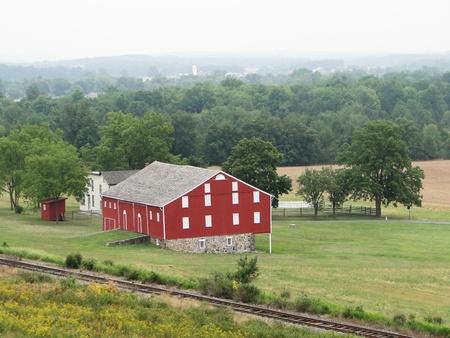 gettysburg battlefield: Red Barn - Gettysburg Battlefield Pennsylvania Stock Photo