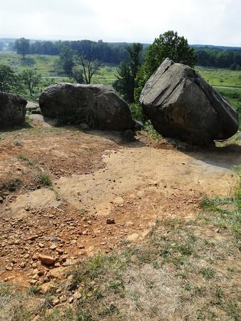 gettysburg battlefield: Bolders on top of  Stock Photo