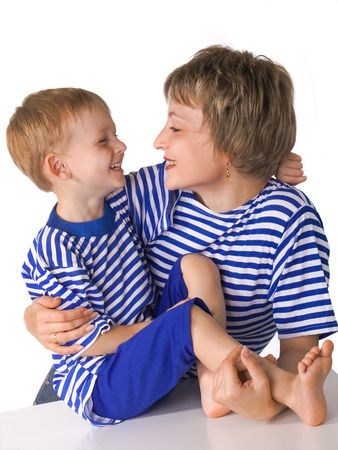 Mother and the son embrace and look against each other Stock Photo - 1535429
