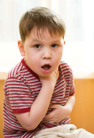 öksürük: Sick kid