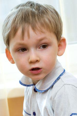 Sad kid photo