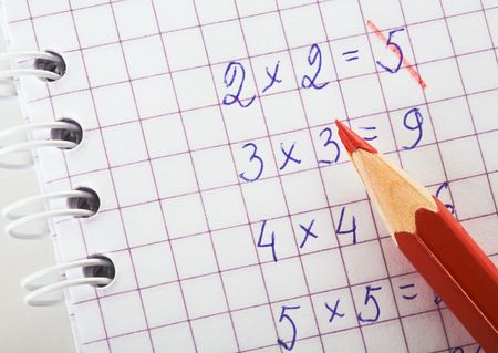multiplication: Multiplication table Stock Photo