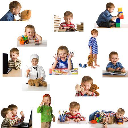 Set playing child Stock Photo
