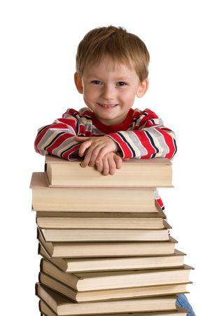 Happy ni�o con los libros