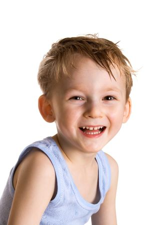 Small happy kid Stock Photo