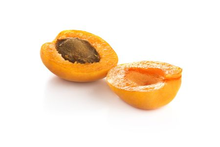 apricot kernels: Apricot isolated Stock Photo