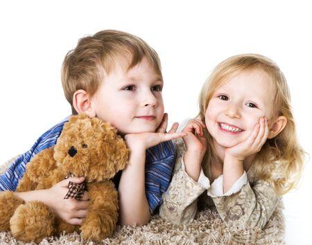 Charming couple of children Stock Photo - 3760046
