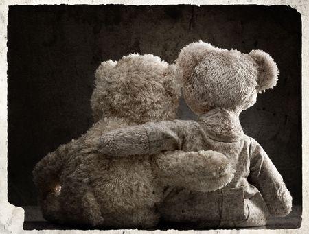 couple amoureux: Loving couple d'ours en peluche