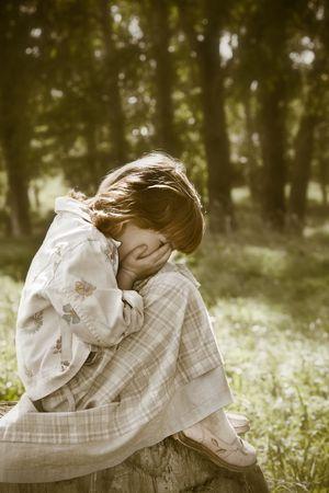 lost child: Lost little girl