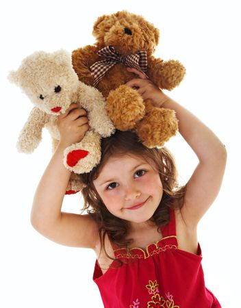 Little girl with toys photo