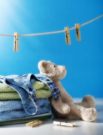 laundry line: Clean laundry