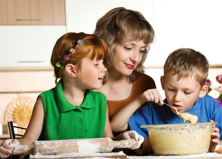 Family cooking photo