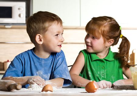 Childrens cooking photo