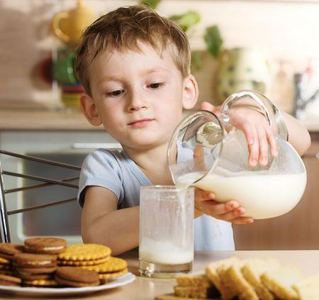Breakfast with milk photo