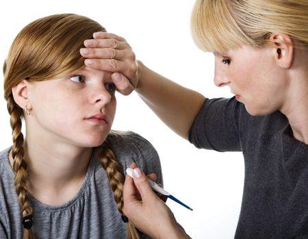 Sick teenage girl  photo