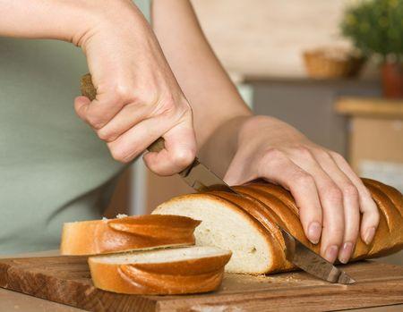 Corte en rodajas de pan Foto de archivo - 5919560