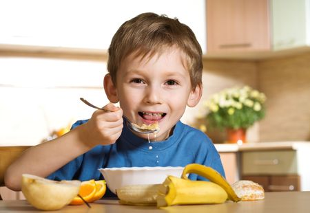 Sunny cheerful breakfast Stock Photo